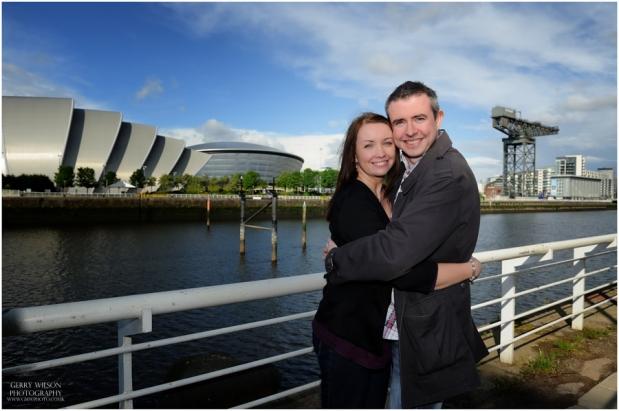 David & Gillian – Glasgow Riverside Pre-WeddingShoot