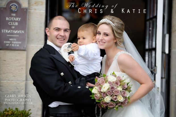 Chris and Katie – St Ninian's Church Stonehouse & The Strathaven Hotel